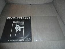 Elvis Presley Sun 45 RPM Record My Baby's Gone / Blue Suede Shoes [Reissue]