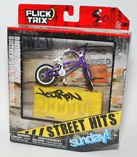 Flick Trix Display Case And Finger Bike STREET HITS SUNDAY! with BARRIER