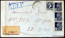 ALGERIE  1945  LETTRE AVION  ALGER plateau sauliere   ENVELOPPE     165CA86