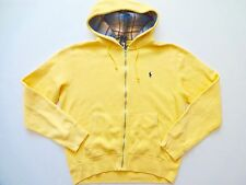 New Ralph Lauren Polo Faded Yellow Fleece Hoodie Jacket size L