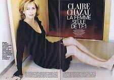 COUPURE DE PRESSE CLIPPING 2002 Claire Chazal    (6 pages)