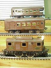 IVES PreWar Std Ga 3235 Electric Loco 184 Combine 186 Observ Coaches VG+Deal
