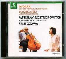 CD ROSTROPOVICH, Seiji OZAWA : Dvorak Cello concerto.. / Erato 1987, no IFPI
