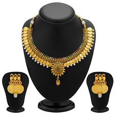 Sukkhi Eye-Catchy Gold Plated Temple Jewellery Coin Necklace Sets(2115NGLDPV2000