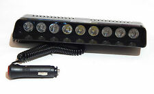 9 CREE LED Red, White, Blue Flashing Strobe Light for Car, Windshield Mounted