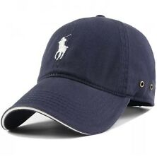 POLO BY RALPH LAUREN PONY BASEBALL GOLF CAP ONE SIZE ADJUSTABLE IN NAVY BLUE