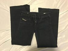 Diesel YBO 008AA Stretch Flare Dark Wash Jeans Made in Italy Size 26 X 28