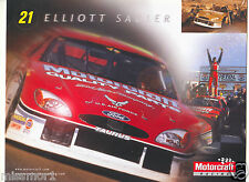 Elliott Sadler 2001 Motorcaft racing promotional picture signature card Ford