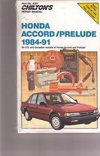 Honda Accord-Prelude, 1984-91 by Chilton Automotive  Repair and Tune-Up Guide