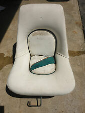 Marine Boat White Seat Captain Chair Bayliner Starcraft SeaRay Crownline