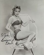 BARBARA EDEN HAND SIGNED 8x10 PHOTO+COA     YOUNG BIKINI BODY     TO JOHN