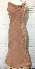 NWT Wanko Crushed Velvel Dusty Rose Dress Sz F Small - Medium (see Measurements)