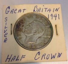 1941 GREAT BRITAIN SILVER HALF CROWN - GEORGIVS D G