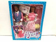 1985 Mattel The Heart Family New Arrival Set Black Dolls and Accessories Kit