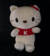 "18"" BIG VINTAGE 1983 SANRIO HELLO KITTY RED K SHIRT STUFFED ANIMAL PLUSH TOY"