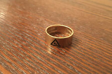 10K Yellow Gold Masonic Ring Virtus Junxit Mors Non Seperabit SCOTTISH RITE