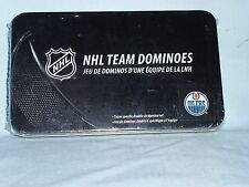 Edmonton Oilers   NHL TEAM DOMINOES Double Six Domino Set  NEW in GIFT TIN BOX