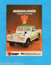 TOP983-PUBBLICITA'/ADVERTISING-1983- BURAGO - LAND ROVER PICK-UP