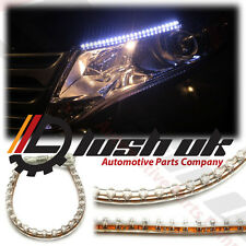 2 x 24cm LED DRL Daytime running light Strips Flexible SMD Universal Interior