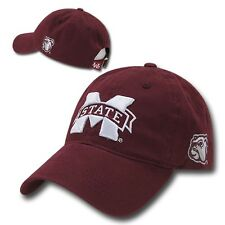 Mississippi Miss State Bulldogs Cotton Polo Style NCAA Baseball Ball Cap Hat
