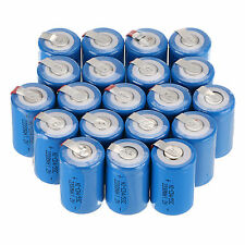 Hot New 20* Blue NiCd 4/5 SubC Sub C 1.2V 2200mAh Rechargeable Battery with Tab