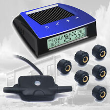 Solar Power LCD Tire Pressure Wireless Monitor System Car TPMS+6 External Sensor