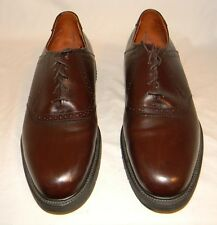 E.T. Wright Brown Burgundy Brouge Leather Oxfords Size 11 1/2D 11.5D