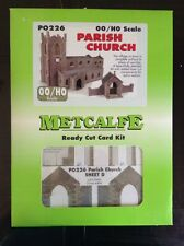 Metcalfe PO226.   Parish Church Ready Cut Card Kit OO Scale.