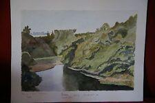 """Aquarelle - Paysage """"Ruisseau Saint Jean - Concarneau"""" signé J.Naudot 1969"""