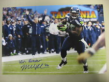 "Michael Robinson Seahawks Autograph 12x18 Photo W/ Insc ""Win Forever"" SPH 0177"