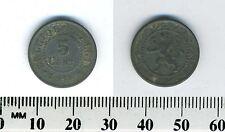 Belgium 1916 - 5 Centimes Zinc Coin - WWI German Occupation