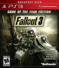 Fallout 3 Game of the Year Edition GOTY (Sony PlayStation 3, 2009) BRAND NEW