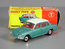 Original Dinky 135 Triumph 2000, Blue-Green, Red Interior, Boxed