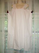 NEW VELROSE UNSTRUCTURED SOFT WHITE COTTON FULL SLIP~NIGHTGOWN GOWN~BUST 42~LRG~