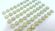 60pcs 10mm Self Adhesive AB Sparkle Gems AB CLEAR Stick on Diamante