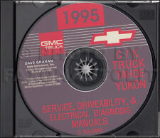 1995 GMC CK Truck Shop Manual Set on CD Sierra Pickup Suburban Yukon Service