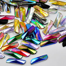 NEW! 20 pcs x Stick On 6x20 mm Acrylic Rhinestones Multi Coloured