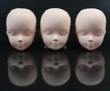 3-PACK Mini Cosmetology Mannequin Doll Heads Practice Makeup Figure Option Head