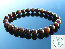 Garnet Natural Gemstone Bracelet 7-8'' Elasticated Healing Stone Chakra Reiki