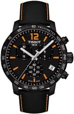 T0954173605700 Tissot Quickster Men's Watch Chronograph Black Leather Strap