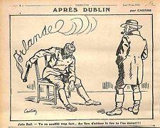 Caricature John Bull & Kaiser Guillaume/Wilhelm II Dessin de Castro WWI 1916