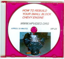 "How to Rebuild a SBC Chevy 283 305 307 327 350 383 LT1 400 Engine Video ""DVD"""