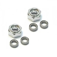 1/10 Tamiya DT-03 DT03 Aluminum Front Wheel Hex Adapter w/Bearing DT3010F Silver
