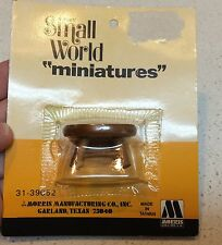 Small World Dollhouse Furniture Stool Miniatures Morris Manufacturing 1974 NIP
