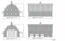 60'X40' - BARN GAMBREL ROOF POLE BARN  PLAN # 16P6040-1 POLE BRAN