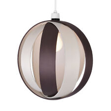 Large Modern Cream & Brown Cocoon Ceiling Light Pendant Lamp Shade Lampshade