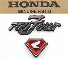 New Left Side Cover Emblems 1970-1972 CB750 K1-K2 Honda Badges Red Jewel #E96