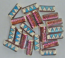 20 Peruvian 18 mm CERAMIC RECTANGLE BEADS fm Peru, D64