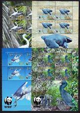 Penrhyn 2008 Mi.Nr. 611-14 Kleinbogen WWF ** Vögel Reiher 38,-- EUR