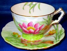 Aynsley RARE Gorgeous Lotus Vintage Bone China Hand Painted Cup & Saucer